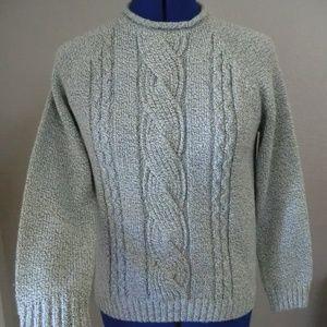 Carolyn Taylor Gray Sweater  Size S Long Sleeve